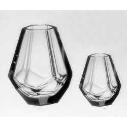 Conjunto Vaso de Cristal Tcheco 2 Pçs
