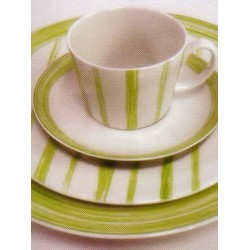 Aparelho de Jantar Viva/Del Porto Twister Verde 30 Pçs