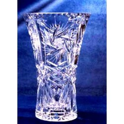 Vaso Acinturado em Cristal Lapidado