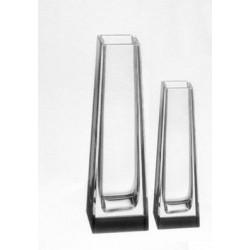 Conjunto Vaso de Cristal Solitário Tcheco 2 Pçs