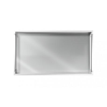 Bandeja Retangular Branca Com Espelho 40x23 TDC