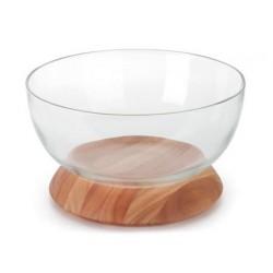 Bowl em Madeira e Vidro Basculante 300x170