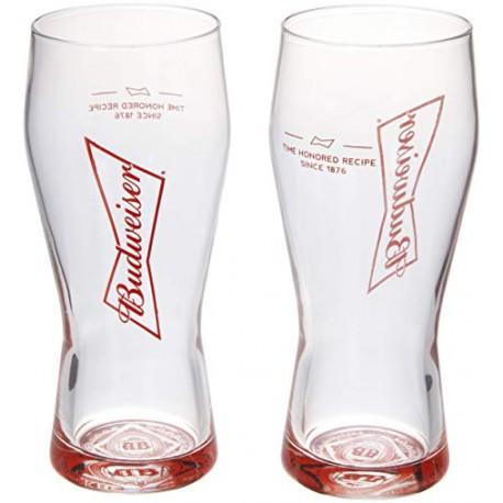 Jogo 2 Copos P/ Cerveja Budweiser 400 ML