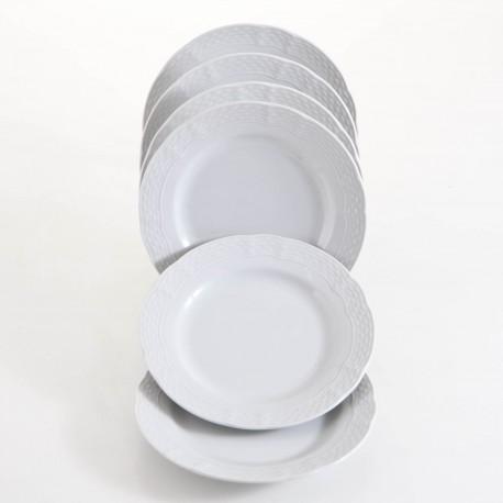Conjunto de Pratos Vanna Branco 18 Pçs