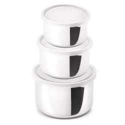 Conjunto 3 Potes Herméticos Inox Freeze